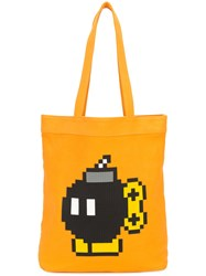 Mostly Heard Rarely Seen Da Bomb Tote Unisex Cotton Yellow Orange