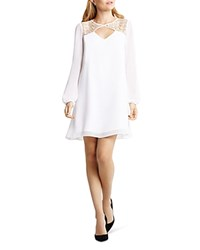 Bcbgeneration Cutout Trapeze Mini Dress Optic White