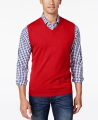 Club Room Men's V Neck Sweater Vest Only At Macy's Red River
