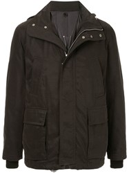 Cerruti 1881 Field Hooded Jacket Black