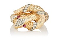 Stazia Loren Women's Snake Shaped Ring Gold