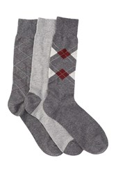 Cole Haan Argyle And Lines Crew Socks Pack Of 3 G44asst G4