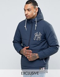 Majestic Yankees Padded Overhead Jacket Exclusive To Asos Navy