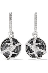 Stephen Webster Forget Me Knot 18 Karat White Gold Multi Stone Earrings One Size