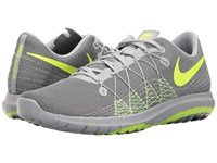 Nike Flex Fury 2 Wolf Grey Volt Anthracite Pure Platinum Men's Running Shoes Gray