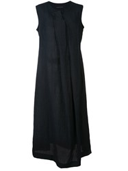 Y's Pleated Front Dress Blue