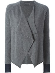 Zadig And Voltaire Draped Front Cardigan Grey
