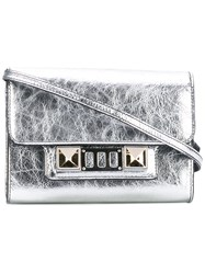 Proenza Schouler Metallic Grey Ps11 Wallet With Strap Lamb Skin