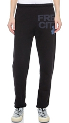 Freecity Mid Weight Sweatpants Superblack Blue