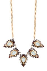 Stephan And Co Crystal Statement Necklace Multi