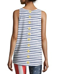 Terez Stars And Stripes Muscle Tank White