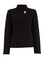 Episode Funnel Neck Buckle Cape Black