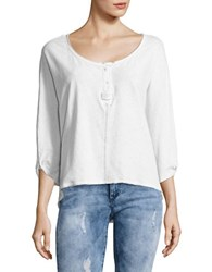 Free People First Base Henley Tee White