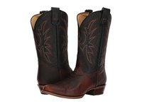 Roper Loaded R Brown Leather Black Cowboy Boots