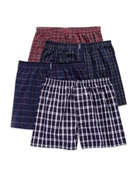 Jockey 4 Pack Stay New Full Cut Boxers Assorted