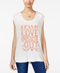 Jessica Simpson Winnie Graphic Tank Top Amour