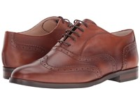 Massimo Matteo Oxford Wing Tip Cuoio Women's Lace Up Wing Tip Shoes Brown