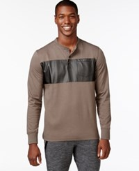 Sean John Coated Panel T Shirt Major Brown