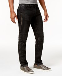Guess Men's Slim Tapered Fit Binary Black Moto Jeans Binary Black Wash