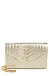 Saint Laurent Women's Large Kate Quilted Calfskin Leather Wallet On A Chain