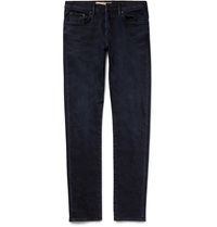 Burberry Slim Fit Washed Stretch Denim Jeans Blue