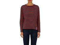 Kule Women's Modern Striped Cotton Long Sleeve T Shirt No Color Navy Red