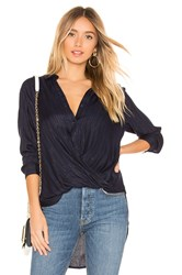 Bcbgeneration Wrap Hem Blouse Navy
