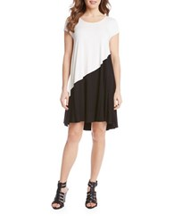 Karen Kane Monochrome Hi Lo Jersey Dress Black White