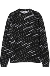 Balenciaga Intarsia Wool Blend Sweater Black