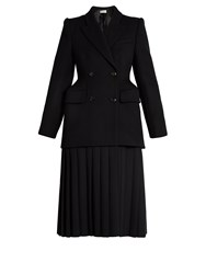 Balenciaga Cavalry Wool Twill Coat Black