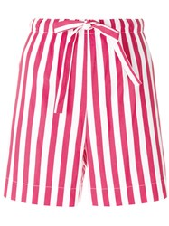 Aspesi Striped Bermuda Shorts White