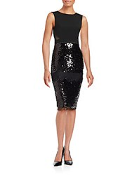 Bcbgmaxazria Sequined Lace Dress Black