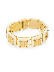 A.L.C. Resin Screw Tennis Bracelet Gold
