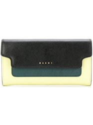 Marni Continental Wallet Yellow And Orange