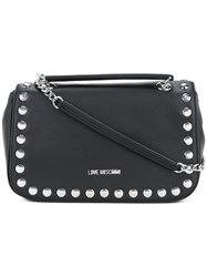Love Moschino Studded Shoulder Bag Women Polyurethane One Size Black