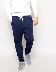 Solid Solid Drop Crotch Sweatpants Navy