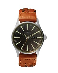 Nixon Quartz Sentry Watch Dark Copper Tan
