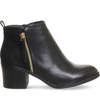 Office Lola Double Zip Ankle Boots Black