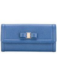 Salvatore Ferragamo 'Vara' Wallet Women Leather One Size Blue