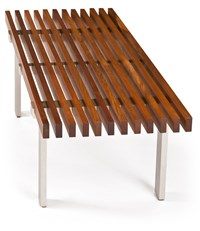 Modernica Case Study Museum Bench 2 Feet North American Walnut Brown