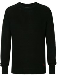 Rta Back Embroidered Sweater Black