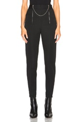 Alexander Wang Wool Tailoring Pants With Ball Chain Zipper In Black