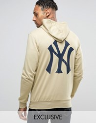 Majestic Yankees Hoodie With Back Print Exclusive To Asos Stone