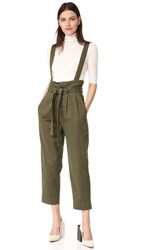 Robert Rodriguez High Waisted Trousers With Waist Flap Olive