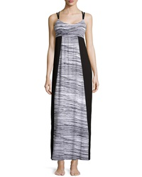 Cosabella Ambracia Printed Lounge Maxi Dress Black