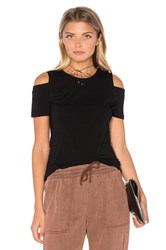 1.State Cold Shoulder Top Black