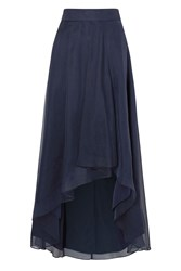 Coast April Organza Hi Lo Skirt Blue