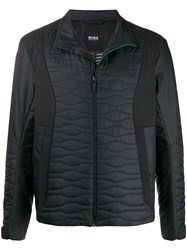 Boss Quilted Panel Zip Up Jacket 60