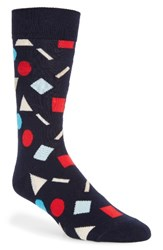 Happy Socks Men's Play Cotton Blend Navy