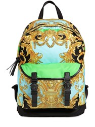 Versace Heritage Printed Nylon Backpack Multicolor
